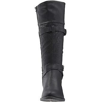 Einfache Straße Womens Kelsa geschlossene Zehe Mode kniehohe Stiefel