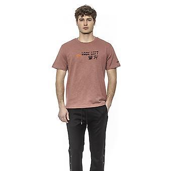 Les Hommes Old Pink- Black T-shirt - LE1395217