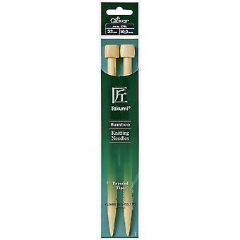 Pasadores de tejido de trébol: de un solo fin: Takumi Bamboo: 23cm x 10.00mm