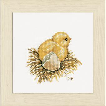 Kit de punto de cruz contada lanarte: Little Chick 1 (Aida)