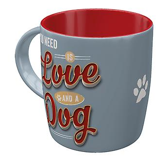 All You Need Is Love And A Dog Vintage Design Mug