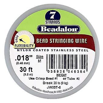 Beadalon Wire Standard Ljus 7 Strand .018 Tum / 30Ft