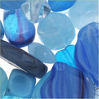 צ'כיה זכוכית חרוזים לערבב הרבה צורות שונות אקווה קאפרי כחול (2 oz.)