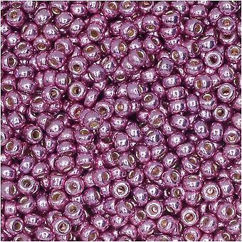 Круглые бусины Miyuki, 11/0, 8,5 граммовая трубка, #4218 Duracoat Оцинкованная пыльная орхидея (розовый)