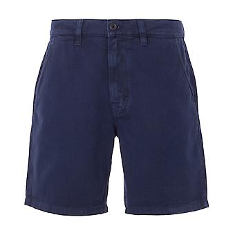 Nudie Jeans Co Luke Rigid Twill Worker Shorts - Navy