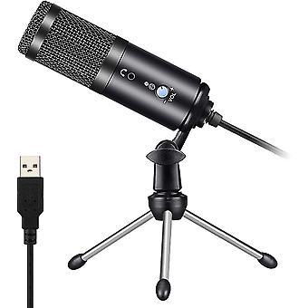 FengChun PC USB-Mikrofon, USB Computer Kondensator Mikrofon PC Gaming Mikros mit Stativ und