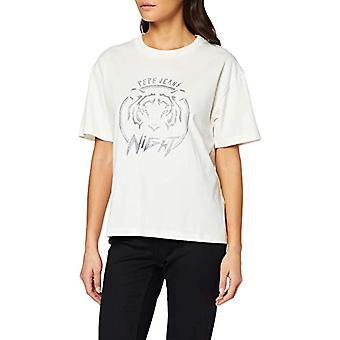 Pepe Jeans Charlotte T-Shirt, Ivory (Mousse 808), X-SMA L L Woman