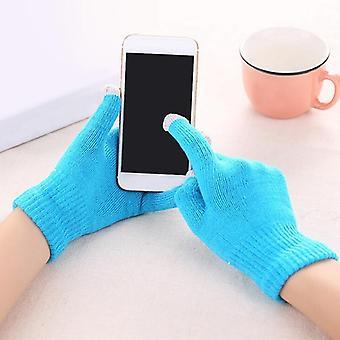 Women Pu Leather/suede Velvet Winter Driving Gloves