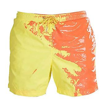 Summer Color Change Temperature Quick Dry Swimming Trunks Shorts