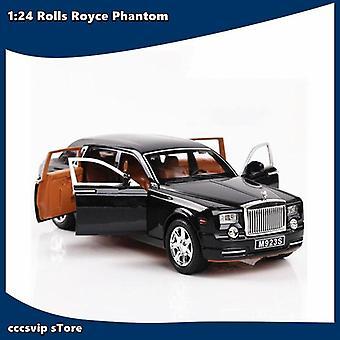 1:24 رولز رويس فانتوم ميتال سيارة سبائك سيارة يموت الصب والسيارات الطفل اللعبة النموذجية (أسود)