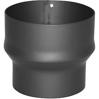 Erweiterung gussgrau, Rohrerweiterung aus Stahl, hitzebeständige Senotherm® Beschichtung, geprüft
