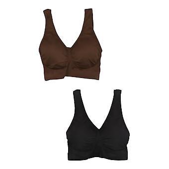 Rhonda Shear Women's Bra Set 2-pack Skintone Seamless Brown 725705
