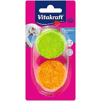 Vitakraft Petites boules de paillettes en plastique pour chat (Chats , Jouets , Balles)