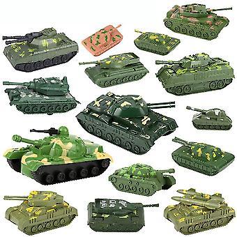 नई 12pcs मिनी टैंक सेना मॉडल सेट सैन्य सिमुलेशन खिलौने बच्चों के लिए ES12827