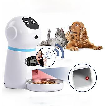 אוטומטי מאכילי חיות מחמד נירוסטה כלב מזון קערה אוטומטי חתול LCD מסך טיימר מזון תקע