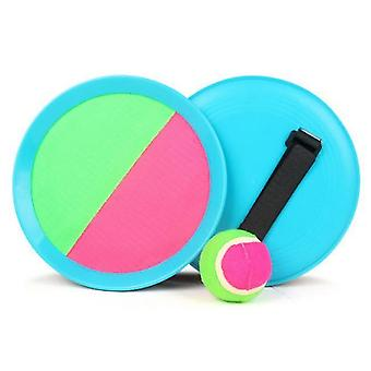 Paddle Toss en Catch Ball Set- 7inch Paddle Catch Games Speelgoed 2 Rackets 1 Bal (Blauw)