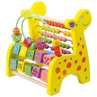 Jelenie Drewniane Rack Baby Music Percepcja Harp Xylophone Zabawki Wczesna edukacja (#02 Żółty)