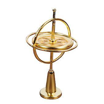 Metal fingertip spinner, hand decompression toy(Gold)