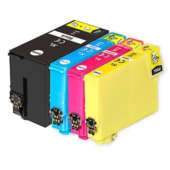 1 Ensemble de 4 cartouches d'encre pour remplacer Epson T2715 (série 27XL) Compatible/non OEM de Go Inks (4 encres)