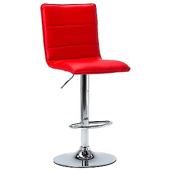 vidaXL Bar Stool Red Faux Leather