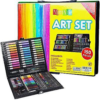 Zeichen-Set, Kinder, Mädchen, Jungen, 150-teilig, Kreativität, Kunst, Zeichnen, Geschenk für Kinder