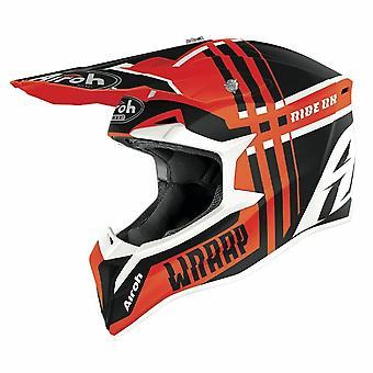 Airoh Wraap Broken Motocross & ATV Helmet Orange/Matt