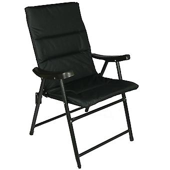 Folding outdoor chair - grey/black/navy
