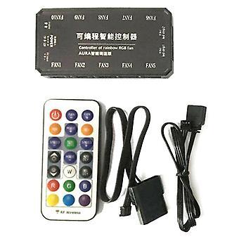 (Light Controller) 30M RGB LED Computer Case PC Cooling Fan Controller + RF Wireless Fernbedienung