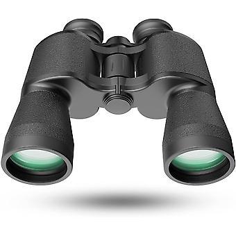 Jumelles pour adultes, 20x50 HD Professionnel / Imperméable à l'eau / jumelles antibrouillard, puissantes et claires FMC BAK4 Jumelles Prism pour les oiseaux regardant les concerts de voyage de chasse, (noir)