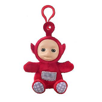 Teletubbies Keychain Key Ring Rubber Surface Plush Toy Bag Pendant Green