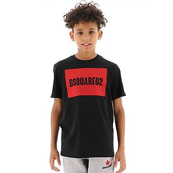 DSQUARED2 Kids Musta Logo T-paita