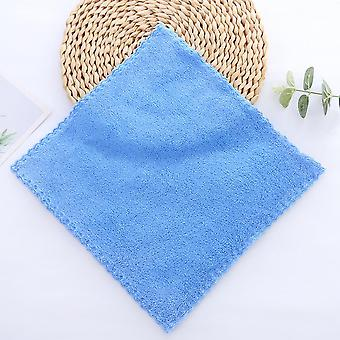 Factory Stock Coral Fleece Children Sassafras Face Wash Small Square Towel Makeup Remover Towel Rag Small Towel Embroidery