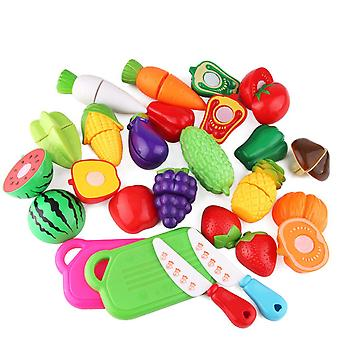 Swotgdoby Kitchen Food For Pretend Cutting Food Toys, Play House Toy For Children