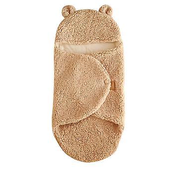 Homemiyn Thin Infant Leg-shaped Lamb Velvet Quilt Soft Warm Comfortable Baby Blanket 0-6 Months
