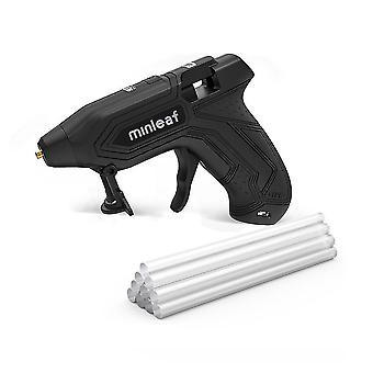 Ml-gg5 hot melt lijm pistool reparatie tool warmte mini pistool 2000mah usb oplaadbaar met 10 stuks lijm smelten