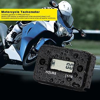 Vandtæt Digital Hour Meter LCD-skærm til 2/4 takts gasmotorcykel