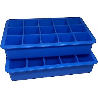 Silicone 15 Cavity Ice Cube Tray Molds Candy Mold Cake Mold (blue)