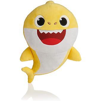Baby Shark plysch leksak napp med musik och nattljus sjungande presentbarn