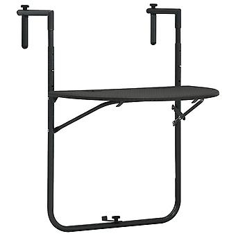 Chunhelife Suspendu Balcon Table Marron 60x64x83.5 Cm Plastique Rotin Look