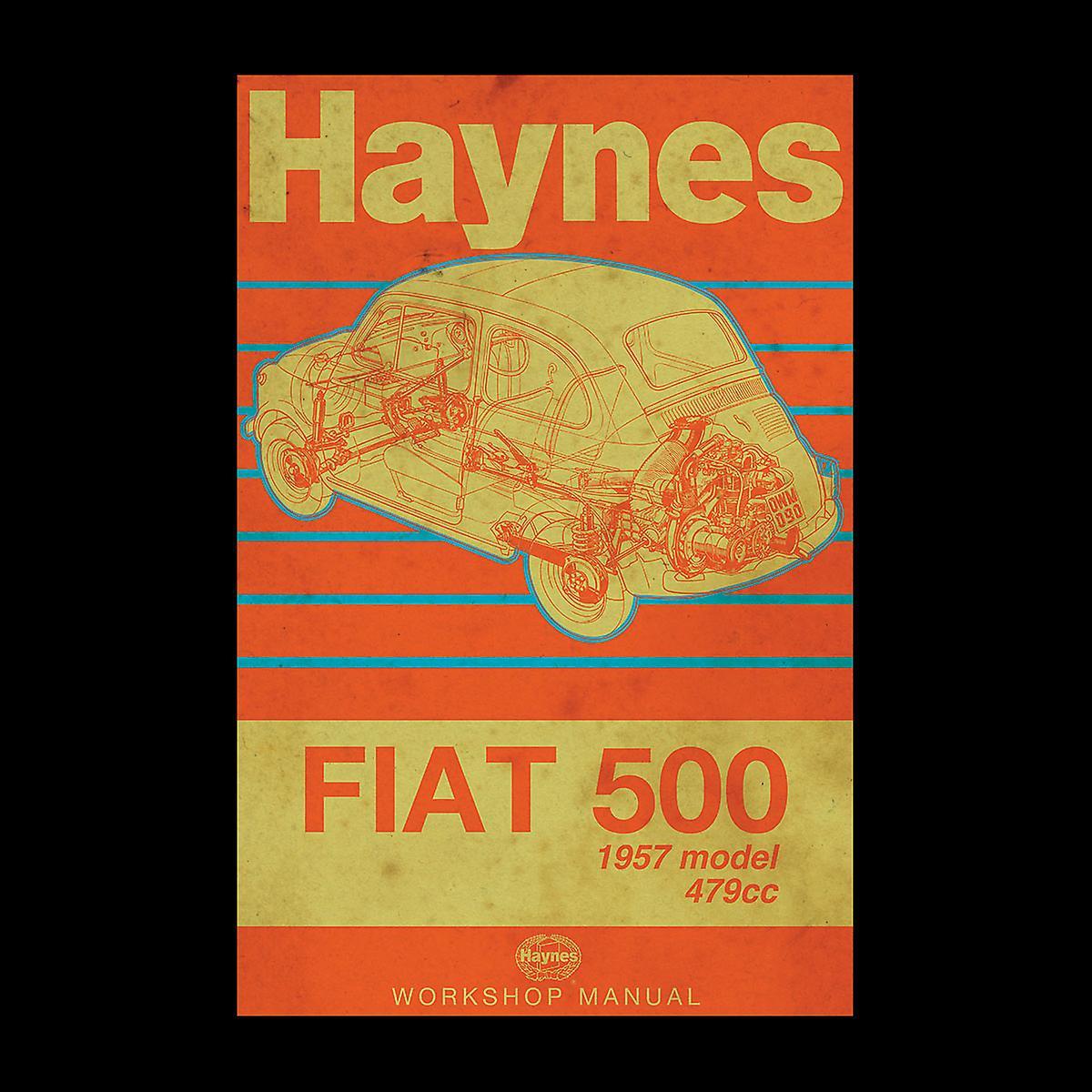 Haynes Workshop manuell Fiat 500 479cc blå Distressed Stripe menns Vest
