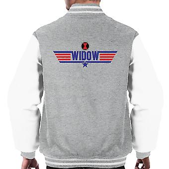 Top Gun Logo Black Widow Men's Varsity Jacket