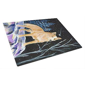 Nuit étoilée Australian Cattle Dog verre planche à découper grand