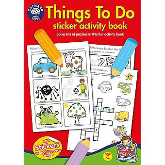 Orchard Toys Things To Do Sticker Colouring Book