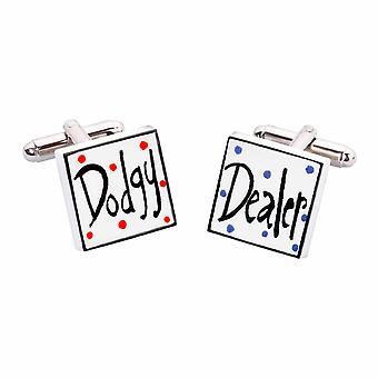 Dodgy Dealer Cufflinks by Sonia Spencer, in Presentation Gift Box. Car Dealer