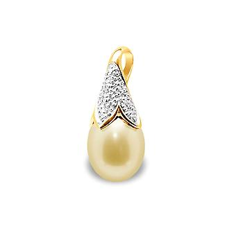Pearl Pendant Of Culture of Gold, Diamonds and Yellow Gold 750/1000 5939
