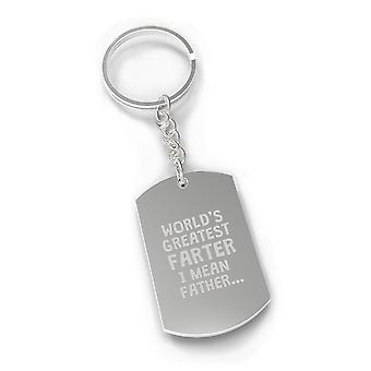 Farter Father Gift Key Chain Engraved Fathers Day Fun Gift