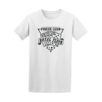 Club de poker Royal Flush Graphic Tee - Image de Shutterstock