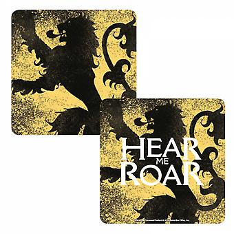 Game Of Thrones Coaster Lannister House Sigil Hear me Roar Official Lenticular