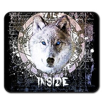Forest Wolf Beast  Non-Slip Mouse Mat Pad 24cm x 20cm | Wellcoda
