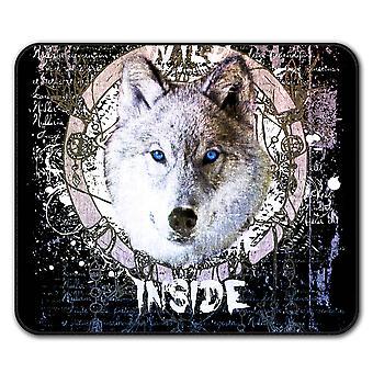 Wald-Wolf Tier Anti-Rutsch-Mauspad Pad 24 x 20 cm | Wellcoda